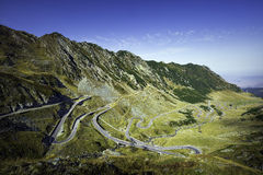 Transfagarasan the most famous road in Fagaras mountains of Romania. The second highest road in Romania, the Transfagarasan is a very spectacular road in Fagaras Stock Image