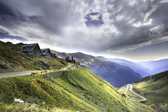 Transfagarasan the most famous road in Fagaras mountains of Romania Royalty Free Stock Photography