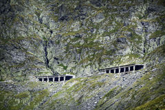 Transfagarasan the most famous road in Fagaras mountains of Romania Stock Image