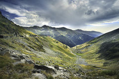 Transfagarasan the most famous road in Fagaras mountains of Romania Stock Images