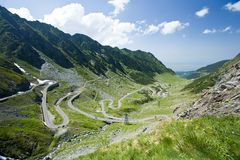 Transfagarasan, the most famous road in Romania Stock Photography