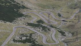 Transfagarasan stock video