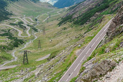 Transfagarasan mountain road Royalty Free Stock Photos