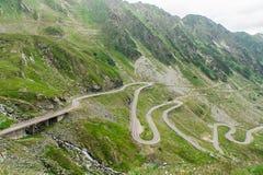 Transfagarasan mountain road. Famous Transfagarasan mountain winding road, crossing Fagaras Mountaines in Romania, Carpathians Stock Photo