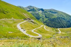 The Transfagarasan road. stock photography