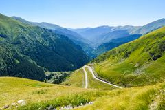 The Transfagarasan road. stock photos