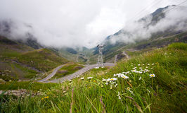 Transfagarasan mountain road from Romania Royalty Free Stock Image