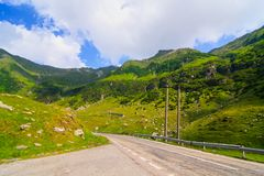 Transfagarasan mountain road Royalty Free Stock Photo