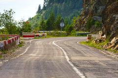 Transfagarasan mountain road Stock Photo
