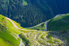 Transfagarasan mountain road Royalty Free Stock Image