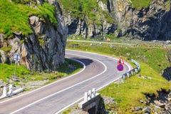 Transfagarasan mountain road Stock Images
