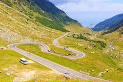 Transfagarasan mountain road Royalty Free Stock Image