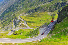 Transfagarasan mountain road Royalty Free Stock Images