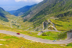 Transfagarasan mountain road Stock Photography