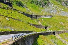 Transfagarasan mountain road. Romanian Carpathians Stock Image