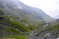 Transfagarasan mountain road, Romanian Carpathians Royalty Free Stock Photo