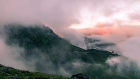 Transfagarasan mountain road after stormy weather, Romania, Euro Stock Photo