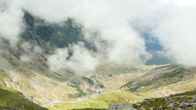 Transfagarasan mountain road, Timelapse Romanian Carpathians stock footage