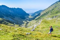 The Transfagarasan mountain road stock images