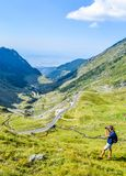 The Transfagarasan mountain road stock photography