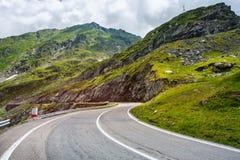 Transfagarasan mountain road. Romanian Carpathians. Crossing mountains in Romania Royalty Free Stock Photos