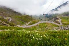 Transfagarasan mountain road Stock Photography