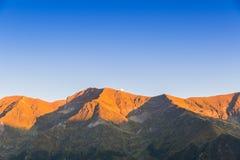 Transfagarasan mountain roud view with the moon . Stock Photography