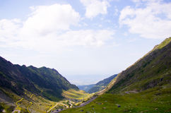 Transfagarasan mountains landscape Royalty Free Stock Image