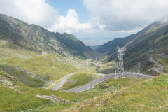 Transfagarasan pass from Fagaras mountains Royalty Free Stock Image