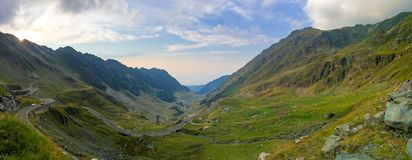Transfagarasan pass in Romanian mountains Royalty Free Stock Photography