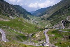 Transfagarasan pass in summer. Crossing Carpathian mountains in Romania, Transfagarasan is one of the most spectacular mountain ro. Ads royalty free stock images