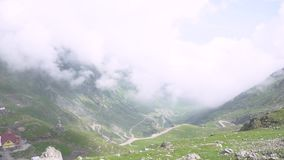Transfagarasan pass in summer. Crossing Carpathian mountains in Romania, Transfagarasan is one of the most spectacular mountain ro. Ads stock video