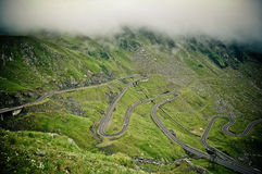 The Transfagarasan road Stock Image