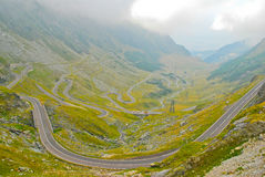 Transfagarasan road in the Carpathians. Mountain landscape in the summer, Romania, Europe Royalty Free Stock Images