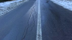 Transfagarasan road stock video footage
