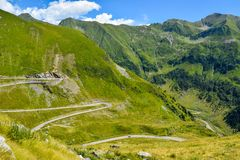 The Transfagarasan road. royalty free stock photography