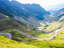 The Transfagarasan road stock photo