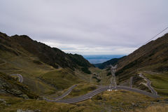 Transfagarasan road in mountains of Romania Royalty Free Stock Photo