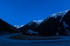 Transfagarasan road by night Royalty Free Stock Images