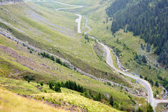 Transfagarasan road in Romania Stock Image