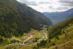 Transfagarasan road, Romanian Carpathians Stock Photo