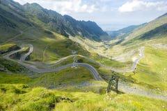 Transfagarasan road in summer Royalty Free Stock Photos