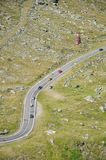 Transfagarasan road from telecabin Royalty Free Stock Images