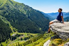 The Transfagarasan road. royalty free stock photo