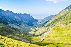 The Transfagarasan road royalty free stock photography