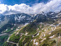 Transfagarasan road in Transylvania panoramic view. Romania, Eur Royalty Free Stock Images