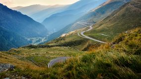 Transfagarasan - Romania. Probably the most beautiful road in the world Royalty Free Stock Image