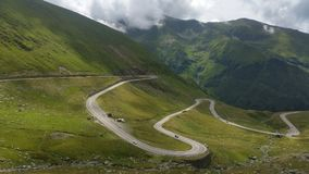 TransFagarasan  Romania Scenic Drives Royalty Free Stock Images