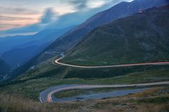 Transfagarasan - Romania. Probably the most beautiful road in the world Stock Images