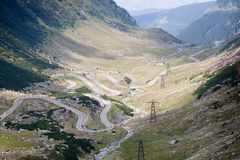 Transfagarasan Romanian highway Royalty Free Stock Photos